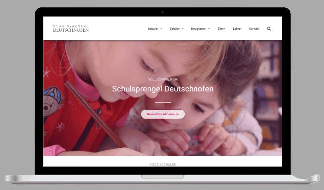 Screenshot Laptop Webseiten für Schulen