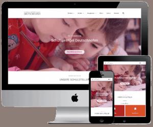 Screenshot Geräte Webseiten für Schulen
