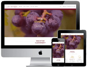 Webshop Screenshot Club Winery - alle Geräte